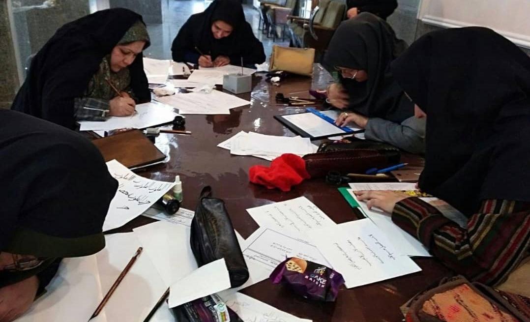 حضور عنابستانی در جمع خوشنویسان شهرستان