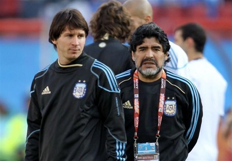 ادای احترام خاص مسی به مارادونا برای بارسلونا ۳ هزار یورو تمام شد! + عکس