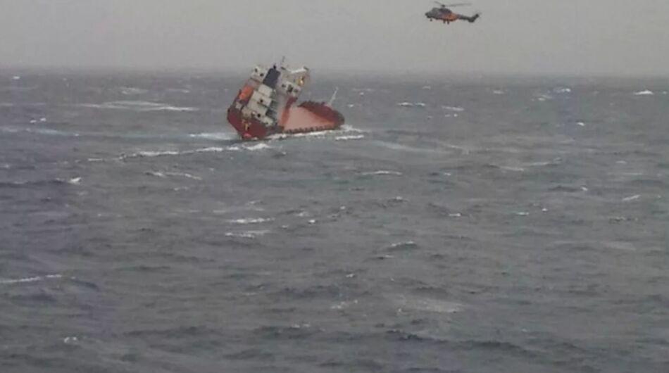 غرق شدن کشتی باری روسیه در دریای سیاه
