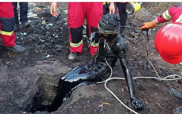 کارگری پس از 2 روز گرفتاری در مخزن سوخت نجات یافت