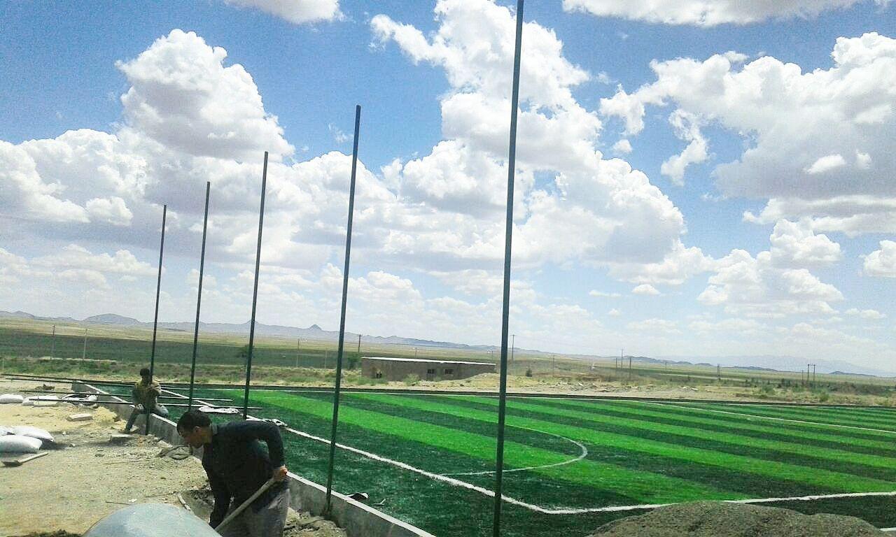 بهره برداری زمین چمن مصنوعی فوتبال در جوین