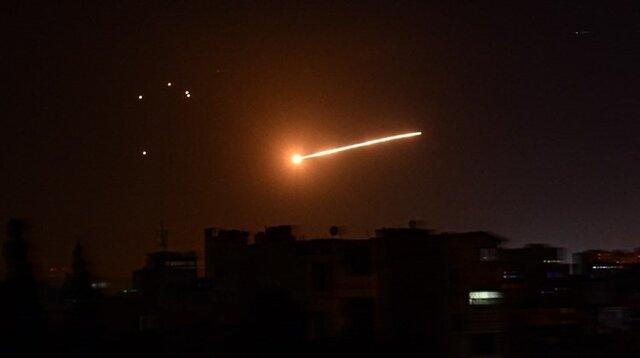 پدافند هوایی ارتش سوریه به حمله رژیم صهیونیستی پاسخ داد