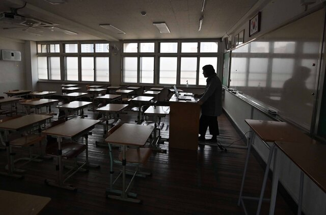 مدارس در کره جنوبی با تشدید شیوع کرونا تعطیل شد