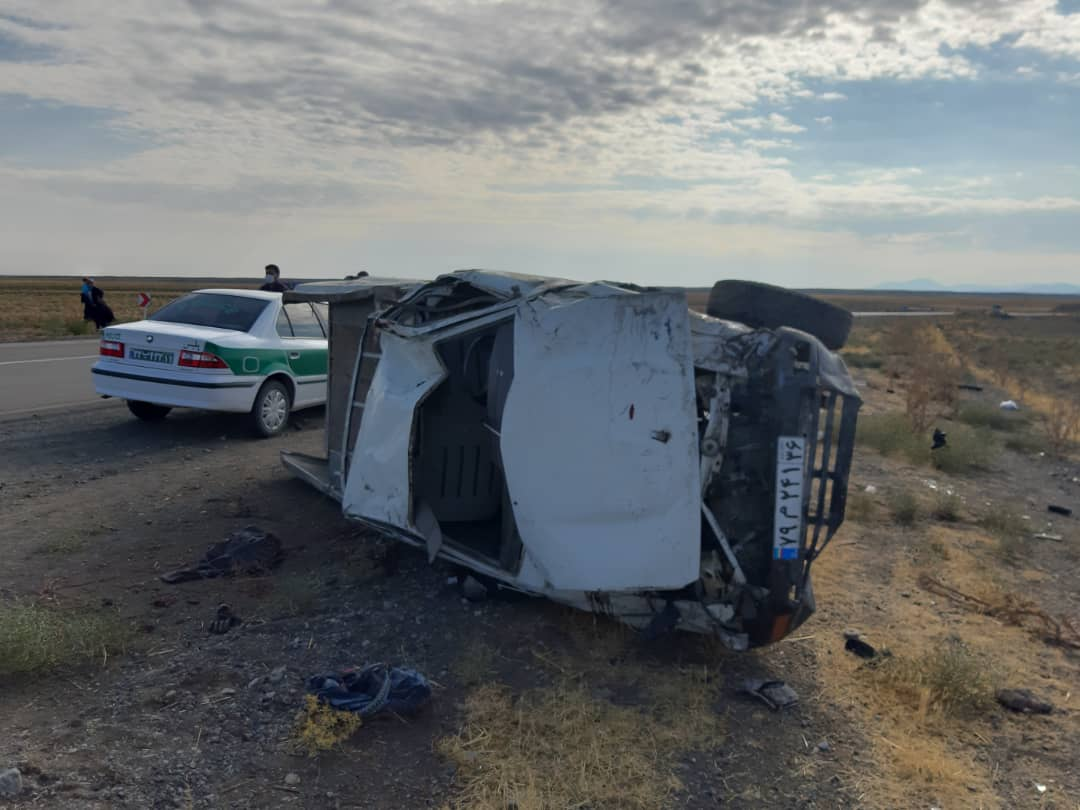 واژگونی خودرو در محور جغتای به سبزوار با یک کشته