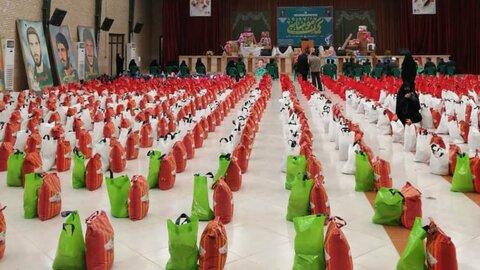 توزیع ۴۵۰بسته معیشتی در حاشیه شهر مشهد