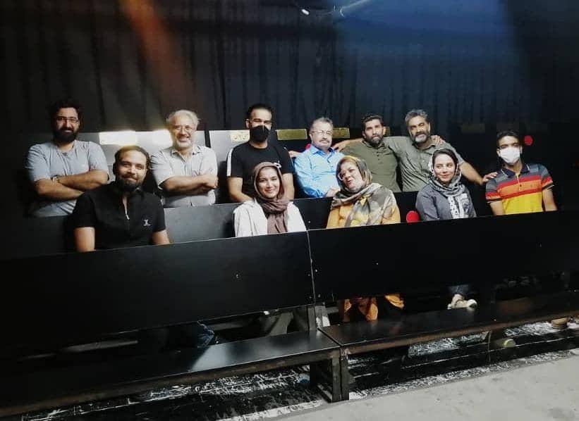 مراحل آمادگی نمایش اتاق 4 در شرایط سخت کرونایی به کارگردانی ابوالفضل عصارزاده
