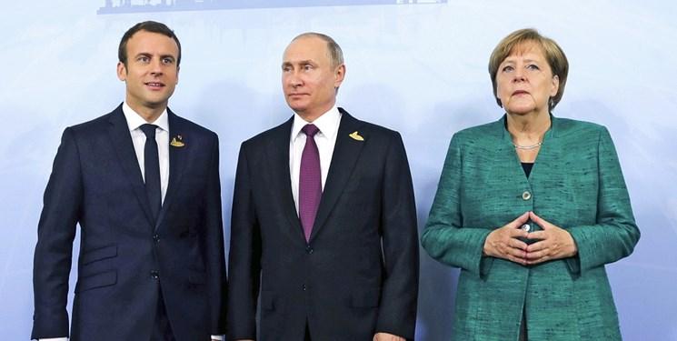 گفتوگوی سران کشورهای فرانسه، آلمان و روسیه درباره ایران