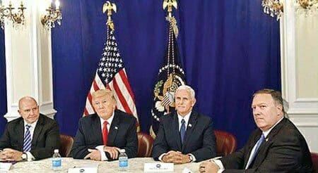 کابینه ترامپ در تدارک برکنار او