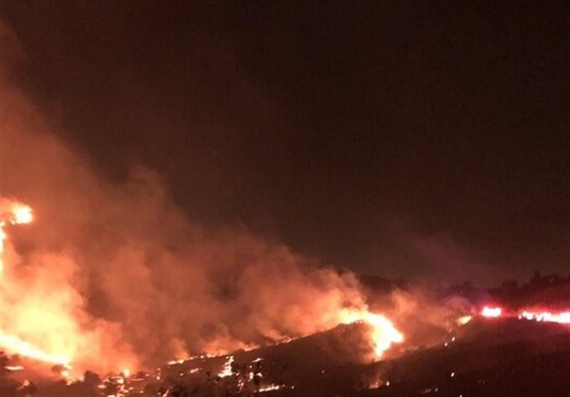 آتش سوزی گسترده در کالیفرنیا و تخلیه هزاران آمریکایی