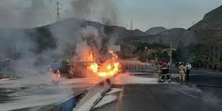 آتشسوزی یک تانکر بنزین در تهران