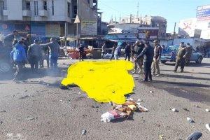2 انفجار تروریستی در بغداد بیش از 100 کشته و مجروح برجای گذاشت