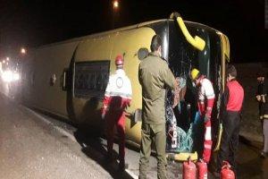 واژگونی اتوبوس در لرستان ۴ نفر مصدوم برجای گذاشت