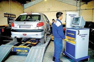 معاینه فنی بیش از یک میلیون خودرو تا پایان دی