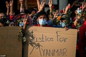 اعتراضات گسترده در میانمار علیه کودتای نظامی