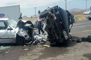 تصادف پراید با سمند ۲ کشته و ۸ مجروح بر جای گذاشت