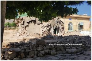 تخریب گنبد مزار چهارطاقی روستای سوقند نیشابور