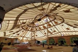 برگزاری آئین چادرپوشان حسینیه قنادها در سبزوار