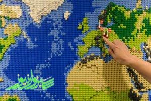 نقشه جدید «لِگو» جهان را به گونهای که هرگز ندیدهاید ترسیم میکند