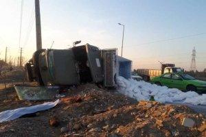 ایست قلبی راننده کامیون بزرگراه آزادگان را به هم ریخت