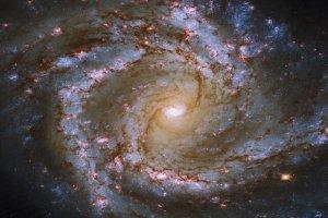 تصویری از یک کهکشان ستارهفشان