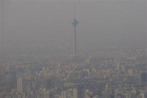 امشب مرز آلودگی هوا در تهران از قرمز فراتر رفت