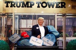 مجسمه ترامپ راهی سطل زباله شد