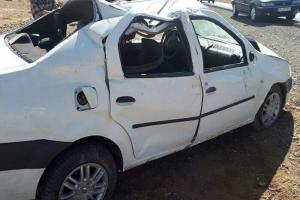 واژگونی خودرو در محور میامی - سبزوار پنج مصدوم داشت